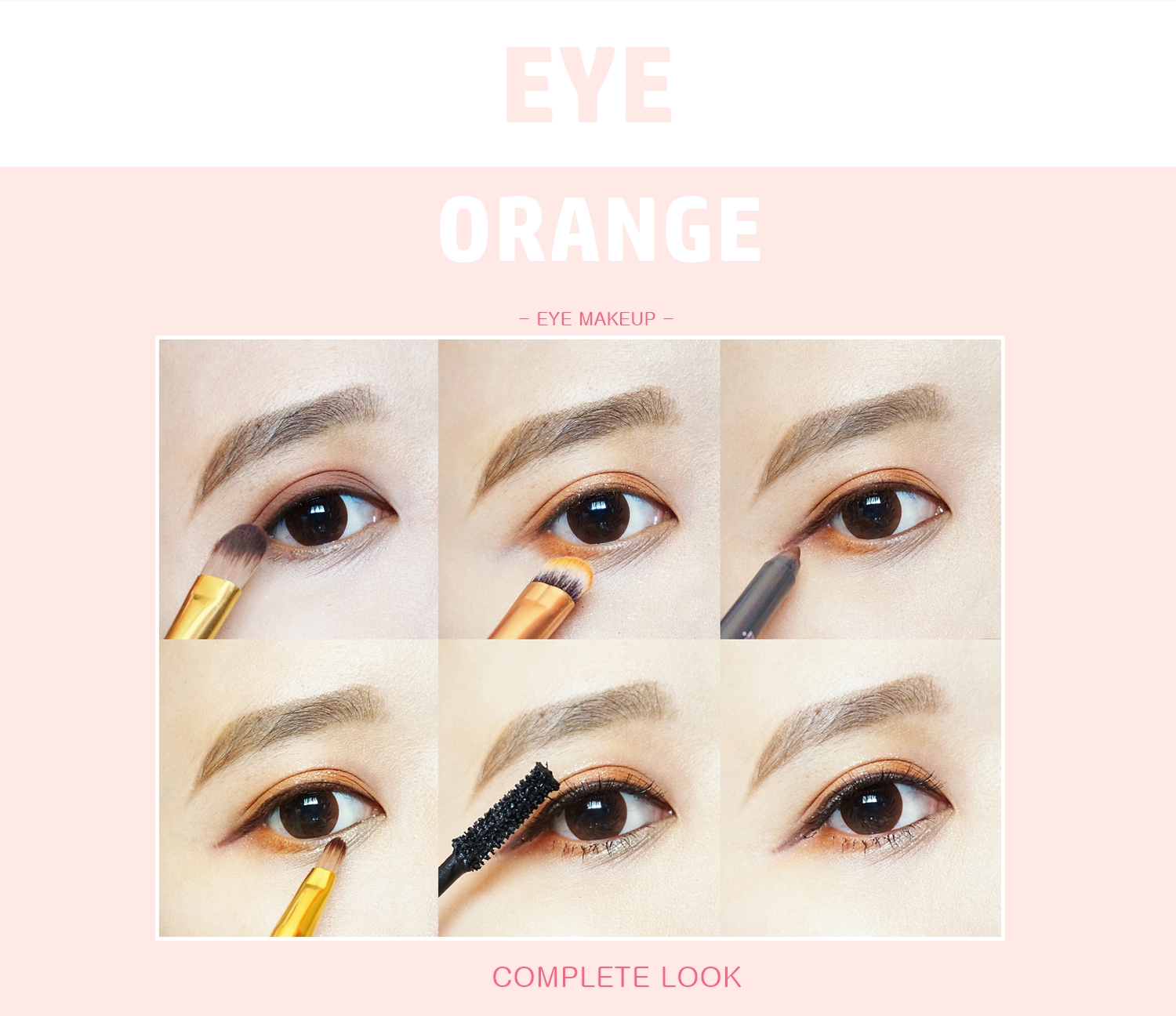 How to Achieve Natural Orange Korean Makeup Look