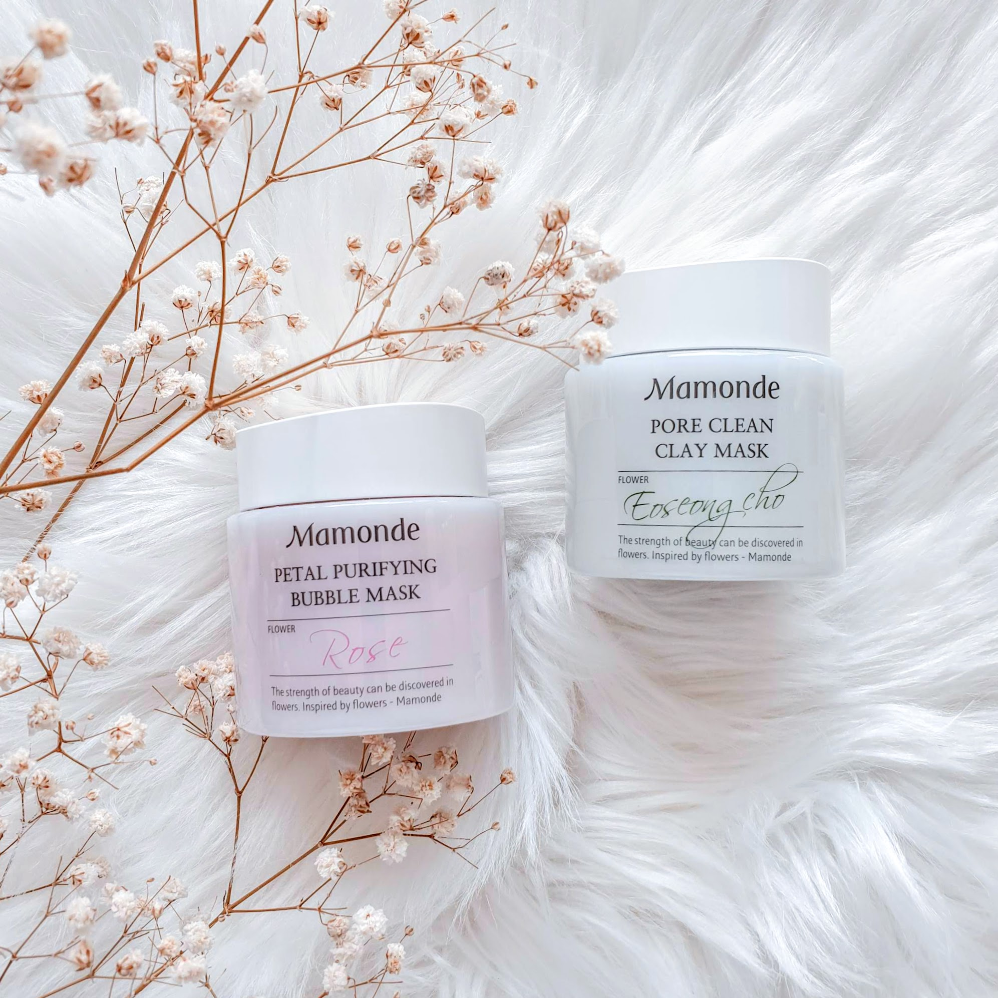Mamonde Pore Clean Clay Mask & Petal Purifying Bubble Mask | Review