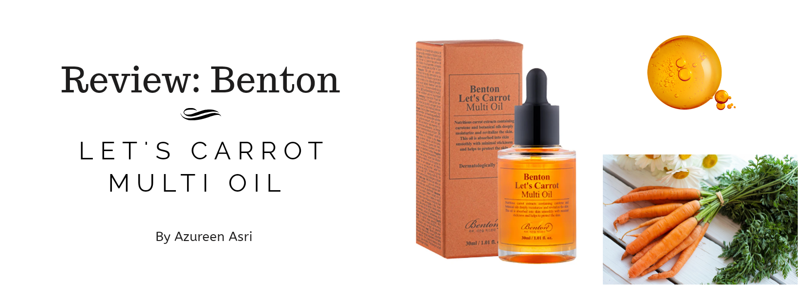 Benton Let's Carrot Multi Oil: Multipurpose Oil for Face, Body & Hair