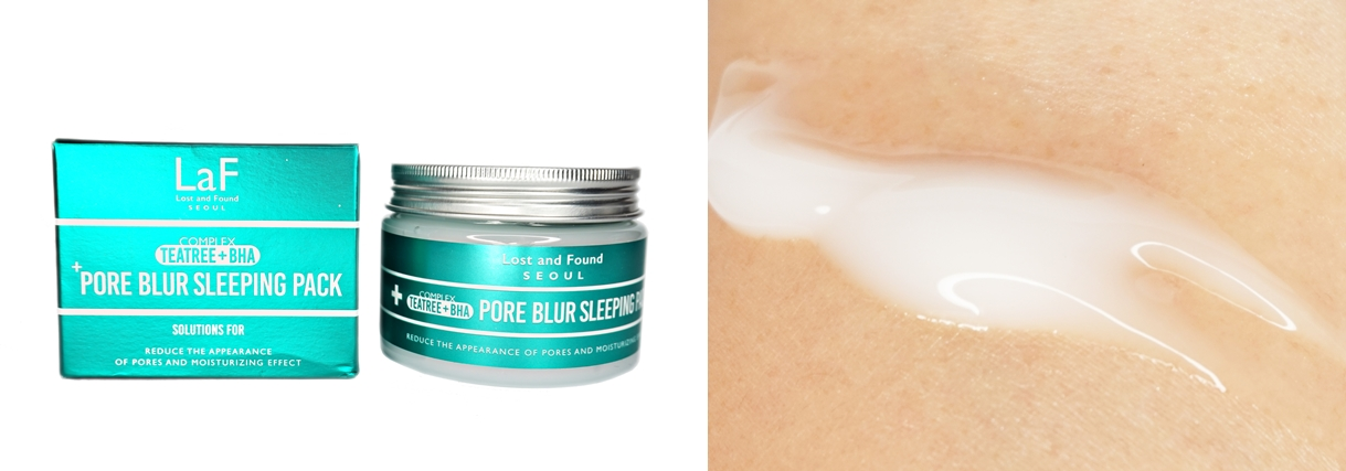 LaF Teatree + BHA Pore Blur Sleeping Pack Review