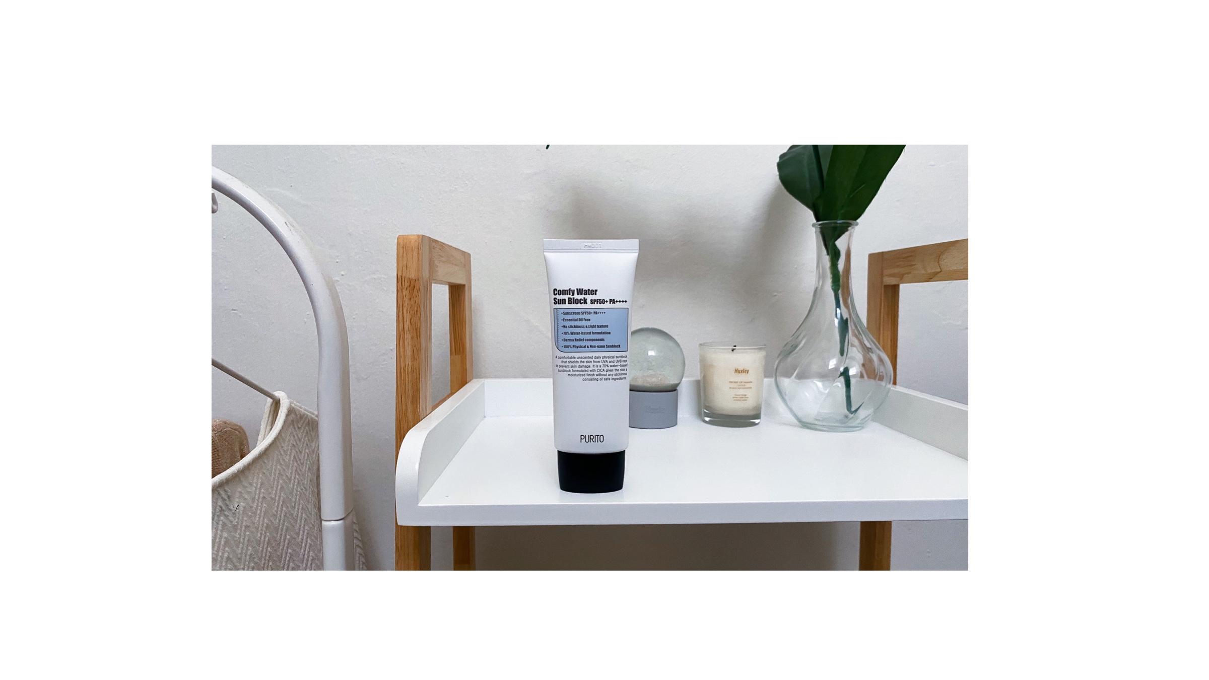 Purito Comfy Water Sun Block SPF50+ PA++++ Review