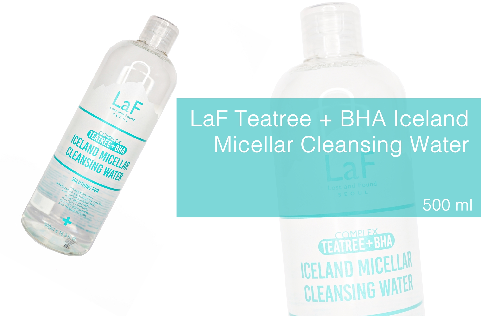 REVIEW | LaF Teatree + BHA Iceland Micellar Cleansing Water