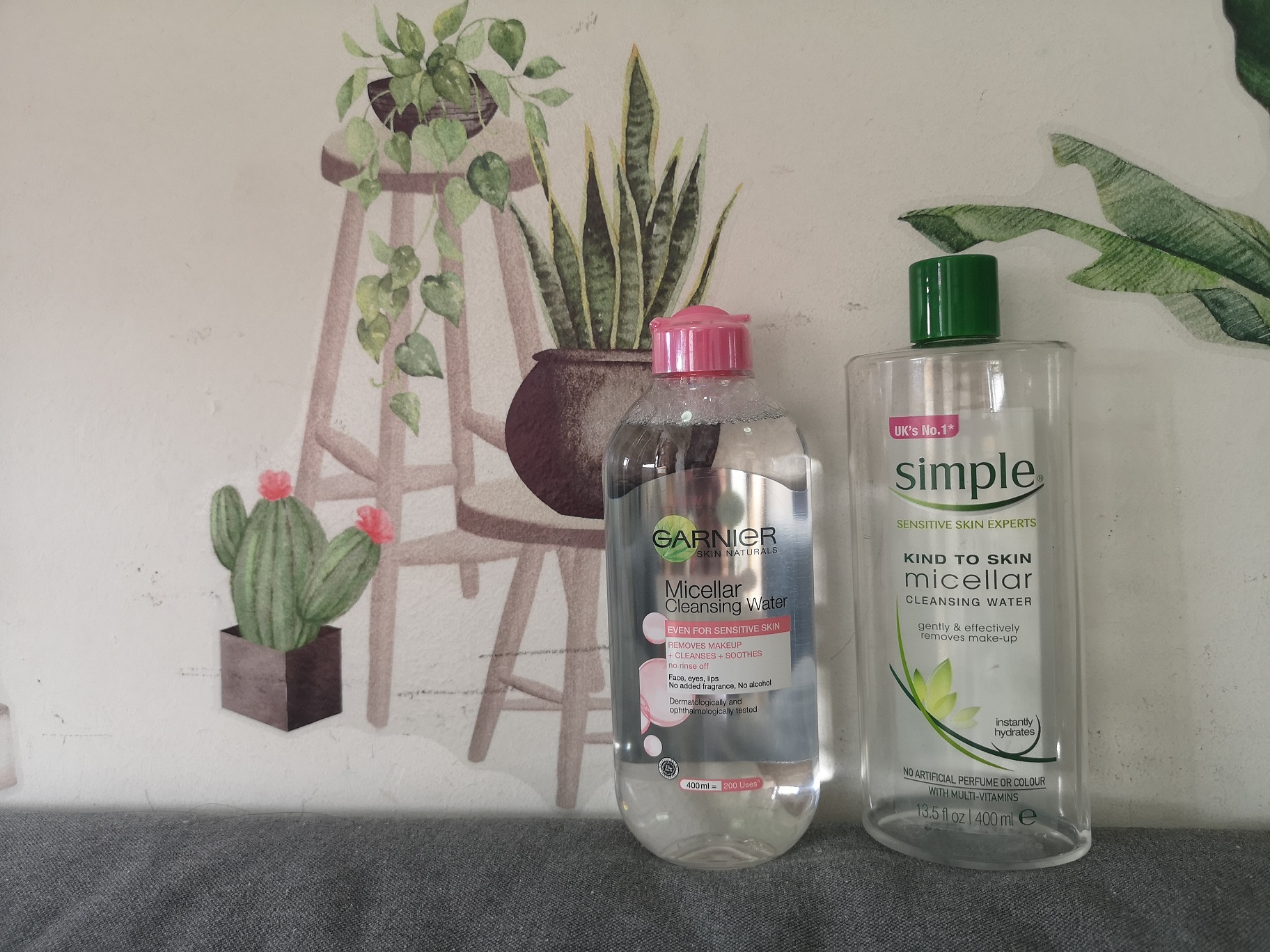 Micellar Cleansing Water | Garnier vs Simple