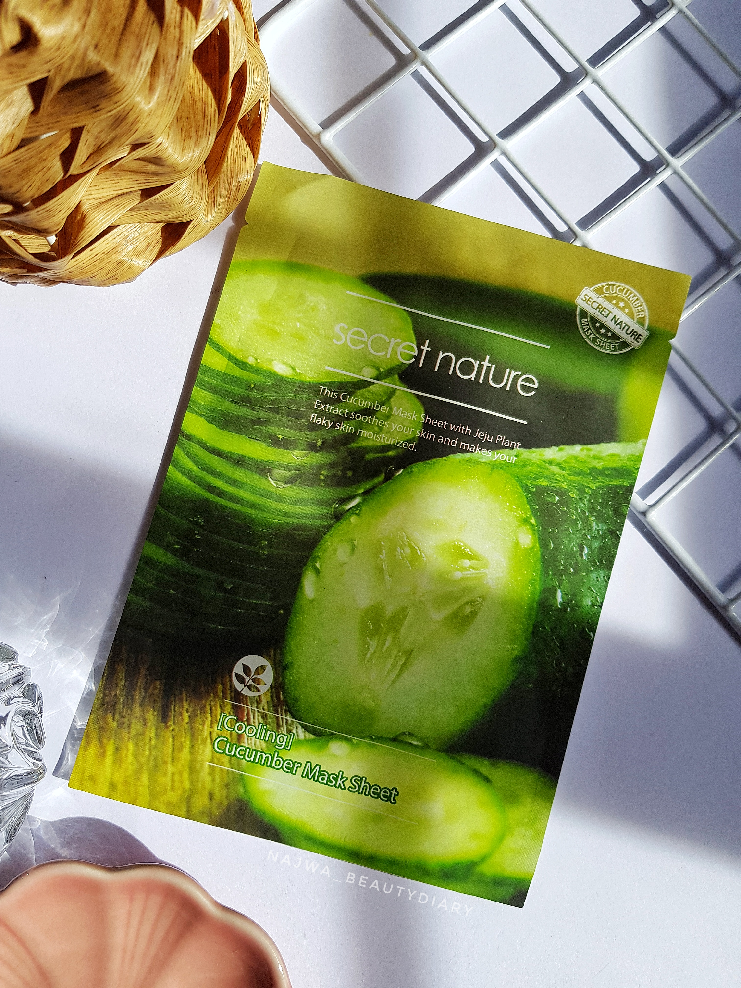 REVIEW | SECRET NATURE Cucumber Mask Sheet #Cooling