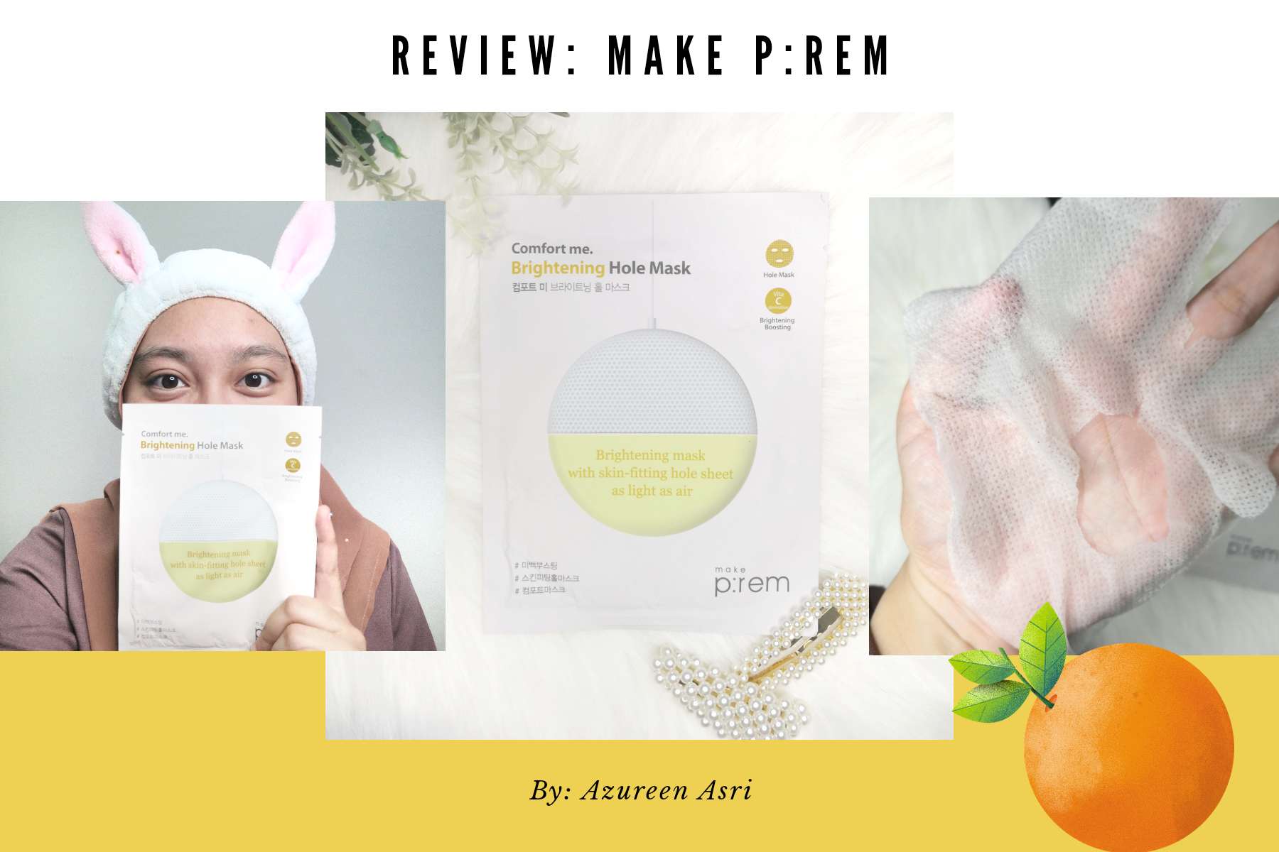 REVIEW | Make P:rem Comfort Me.Brightening Hole Mask