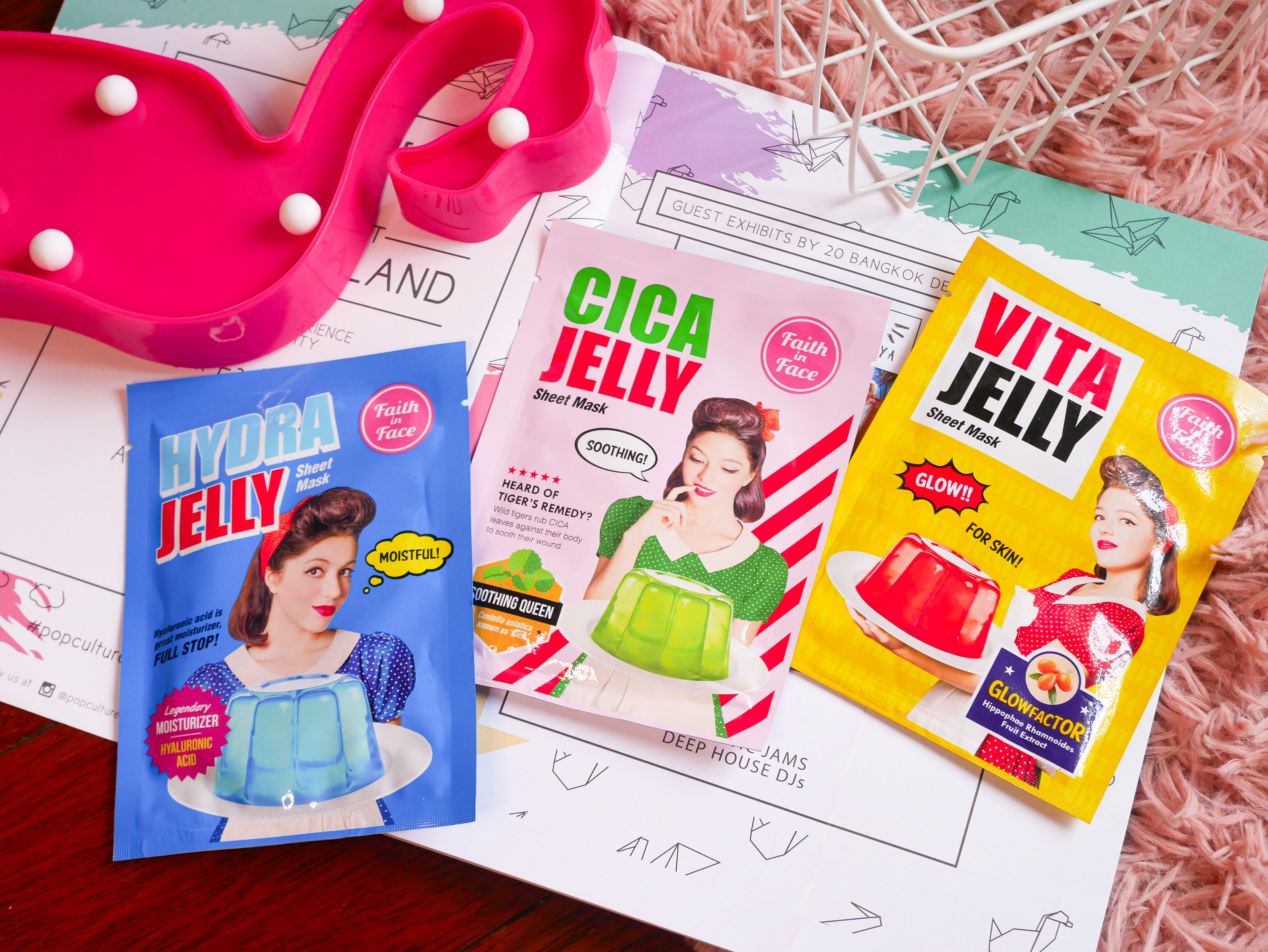 REVIEW   Faith In Face Jelly Sheet Mask #Cica, Hydra & Vita