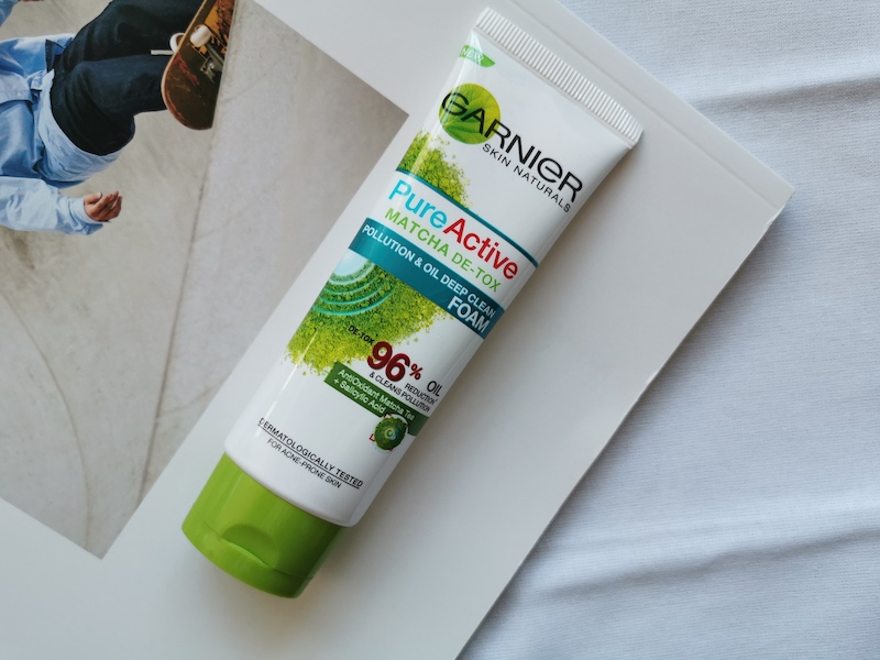 REVIEW | Garnier Pure Active Matcha De-Tox Pollution & Oil Deep Clean Facial Foam