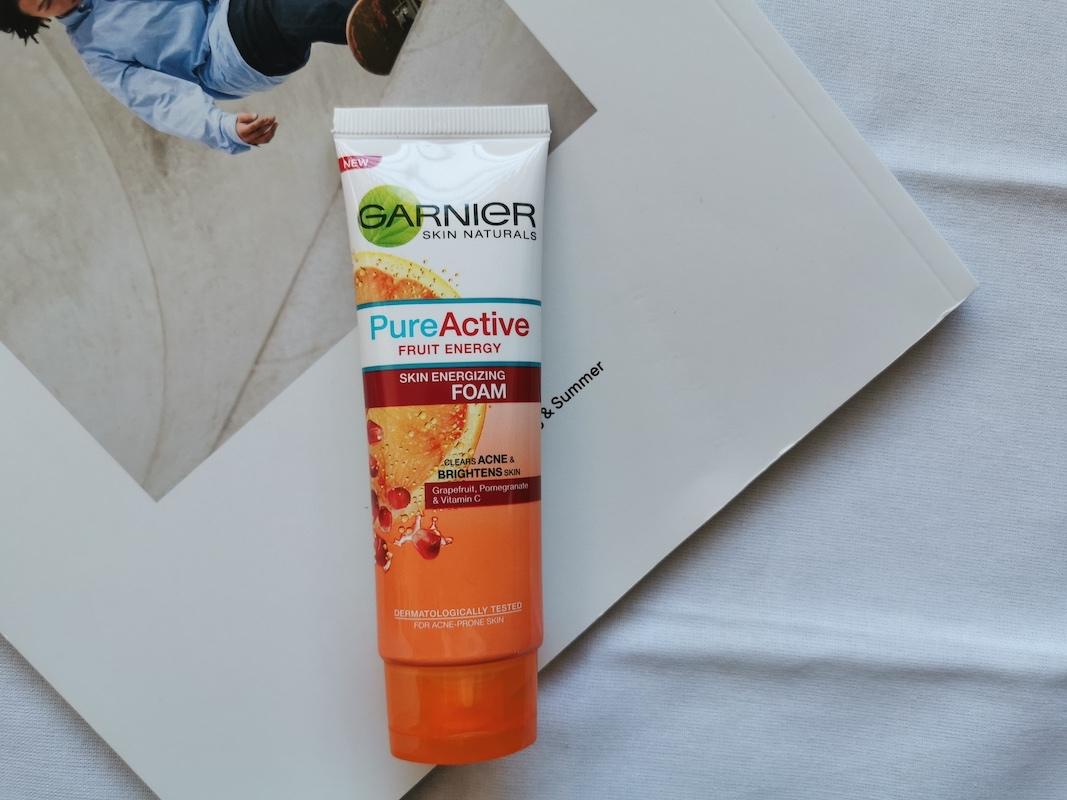 REVIEW   Garnier Pure Active Fruit Energy Foam