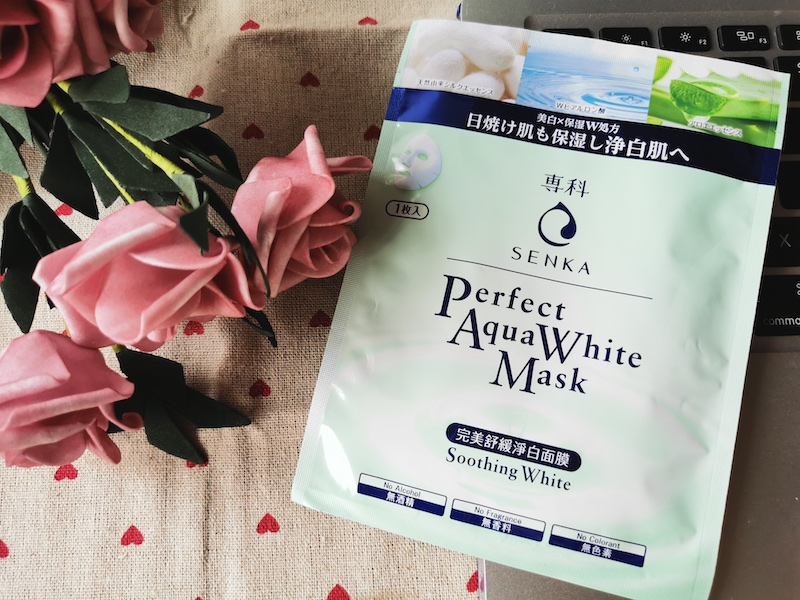 REVIEW | Senka Perfect Aqua Soothing White Mask