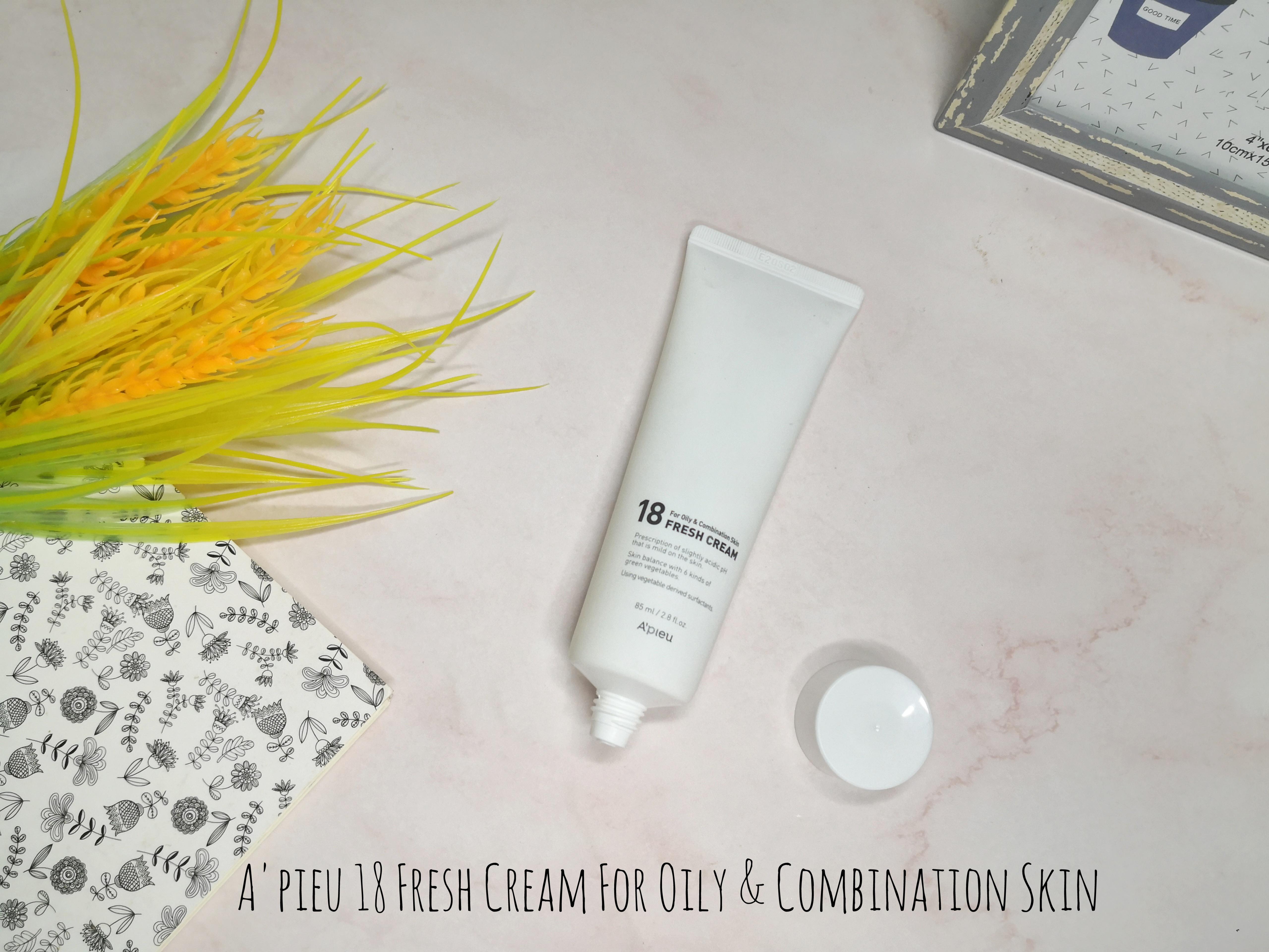 REVIEW | A'pieu 18 Fresh Cream For Oily & Combination Skin