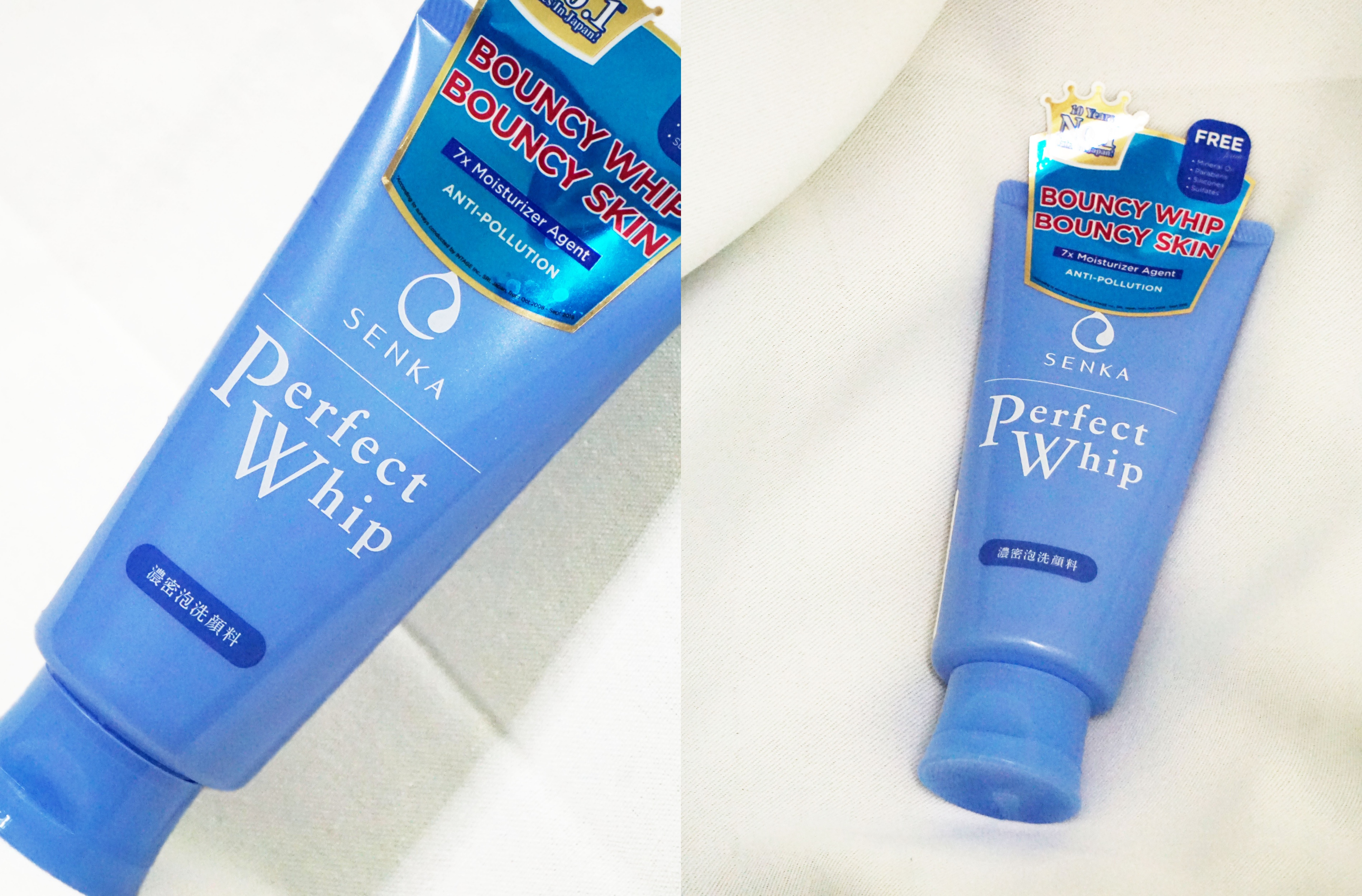 REVIEW   Senka Perfect Whip Cleanser