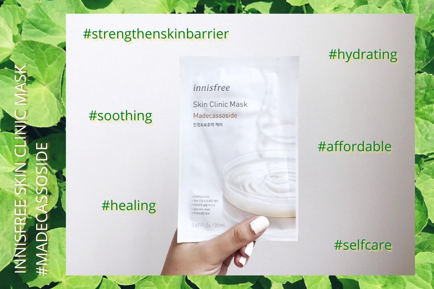 REVIEW | Healing with Innisfree Skin Clinic Madecassoside Mask