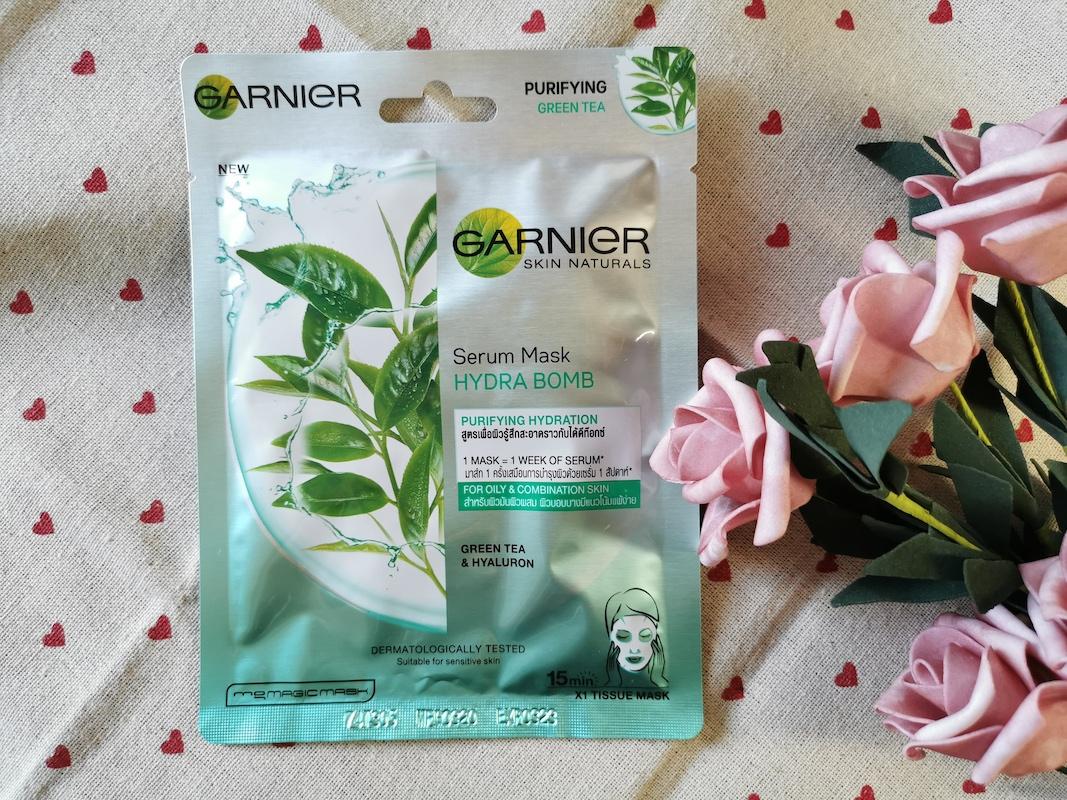 REVIEW | [HALAL MASK] Garnier Skin Naturals Serum Mask #Green Tea Purifying
