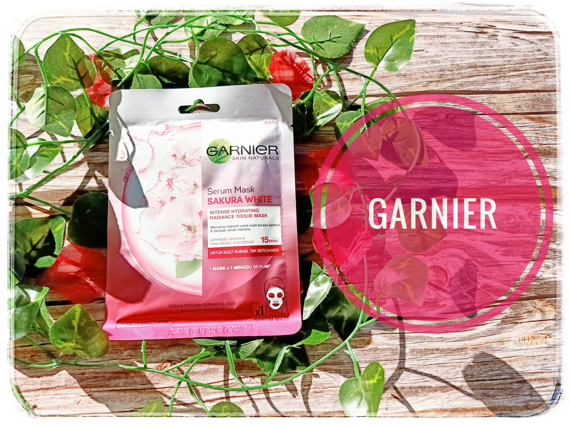 REVIEW | Garnier Skin Naturals Serum Mask Sakura White