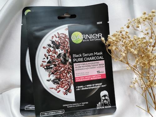 REVIEW   [HALAL MASK] Garnier Skin Naturals Serum Mask #Purifying & Glowing