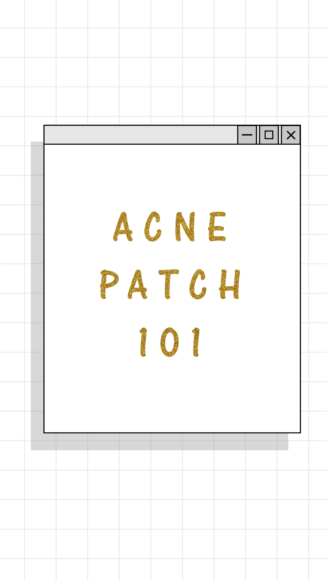 Skincare Tips   ACNE PATCH 101
