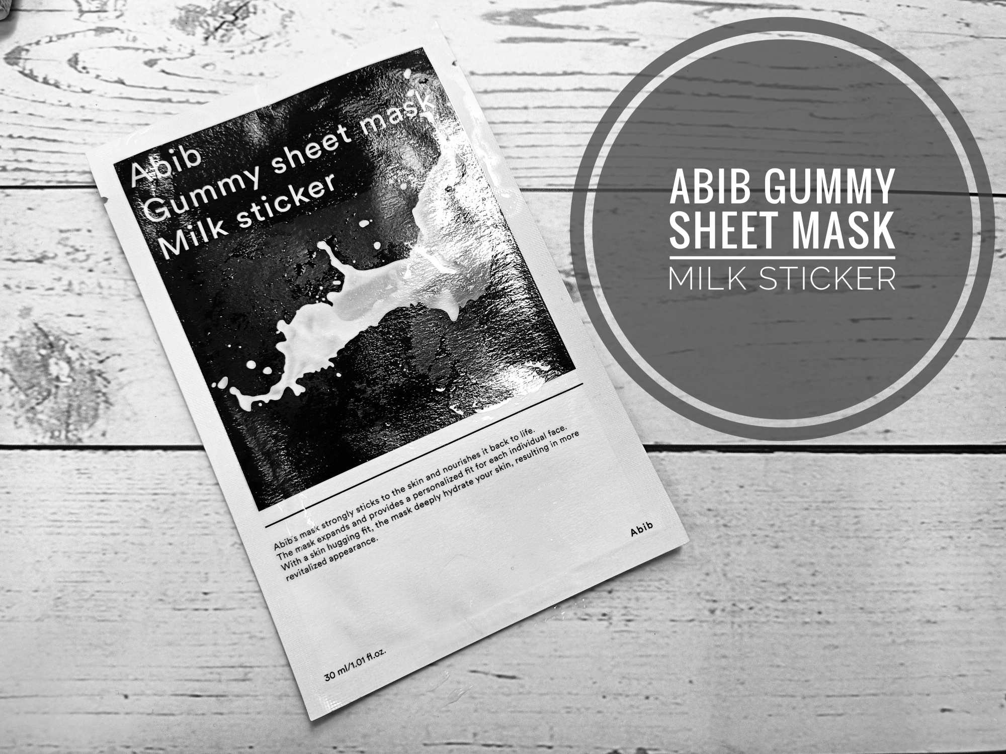 REVIEW | Abib Gummy Sheet Mask Milk Sticker