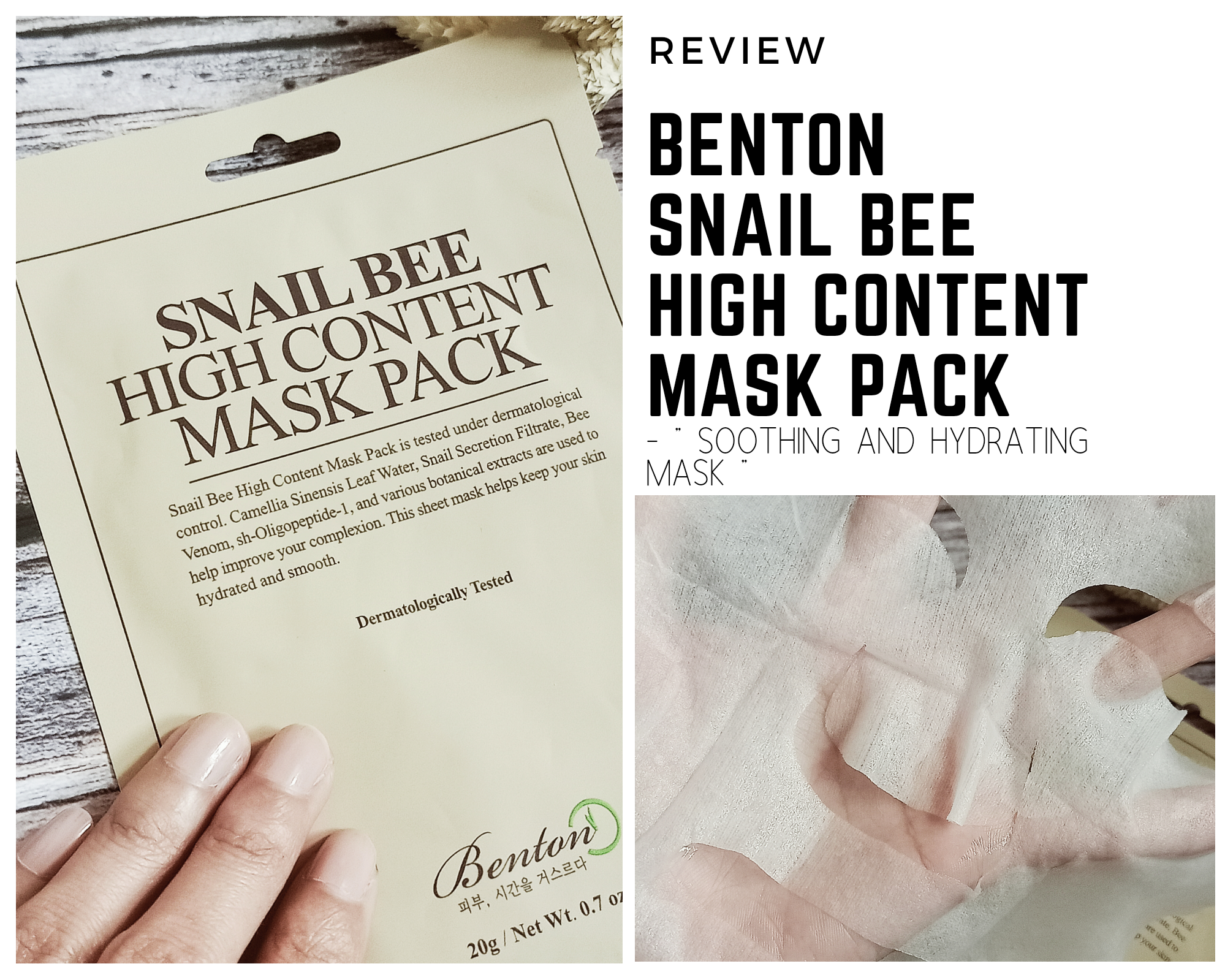 REVIEW | Benton Snail Bee High Content Mask Pack