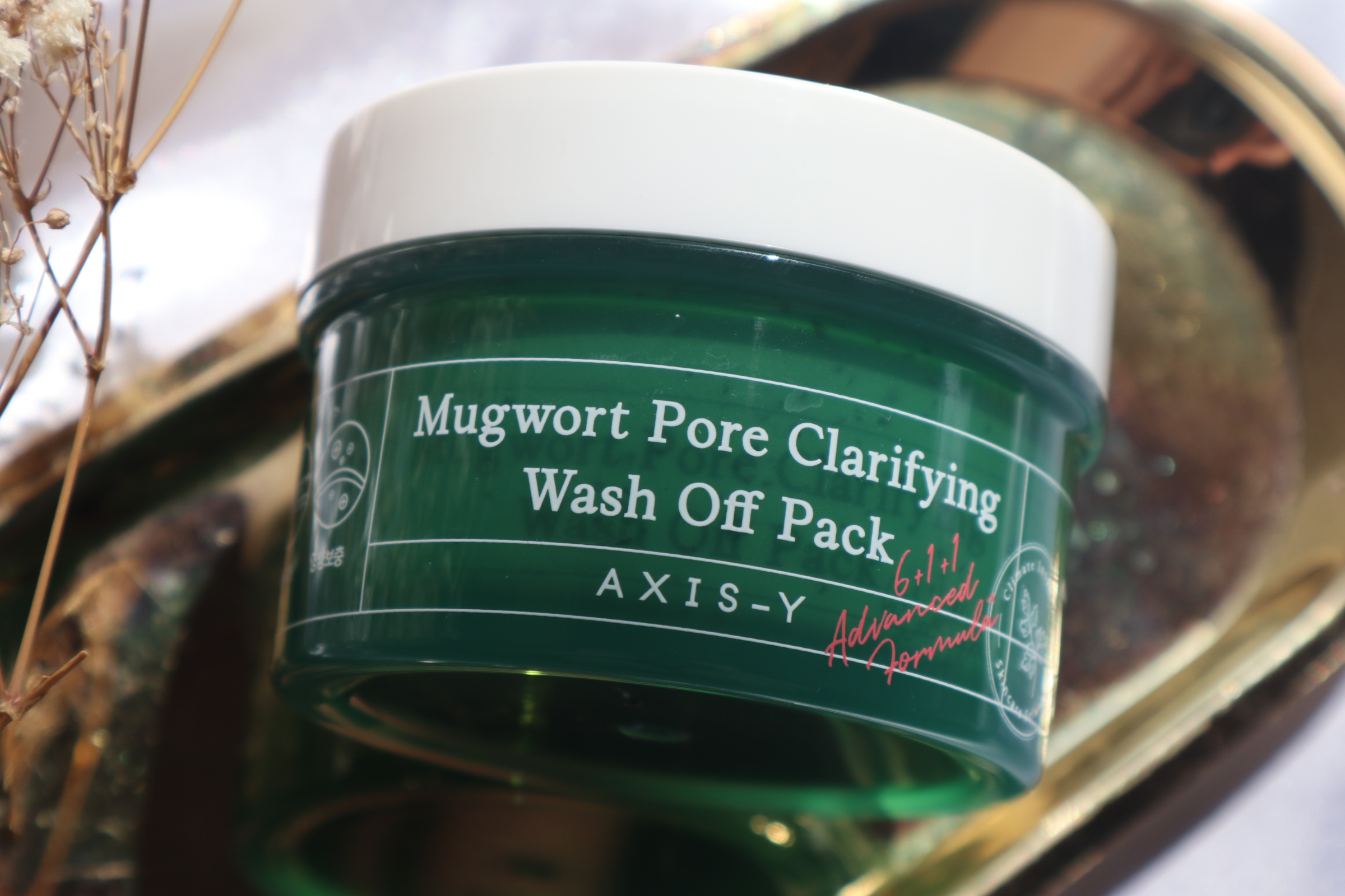 Cooling Wash Off Pack with the Axis-Y Mugwort Pore Clarifying Wash Off Pack
