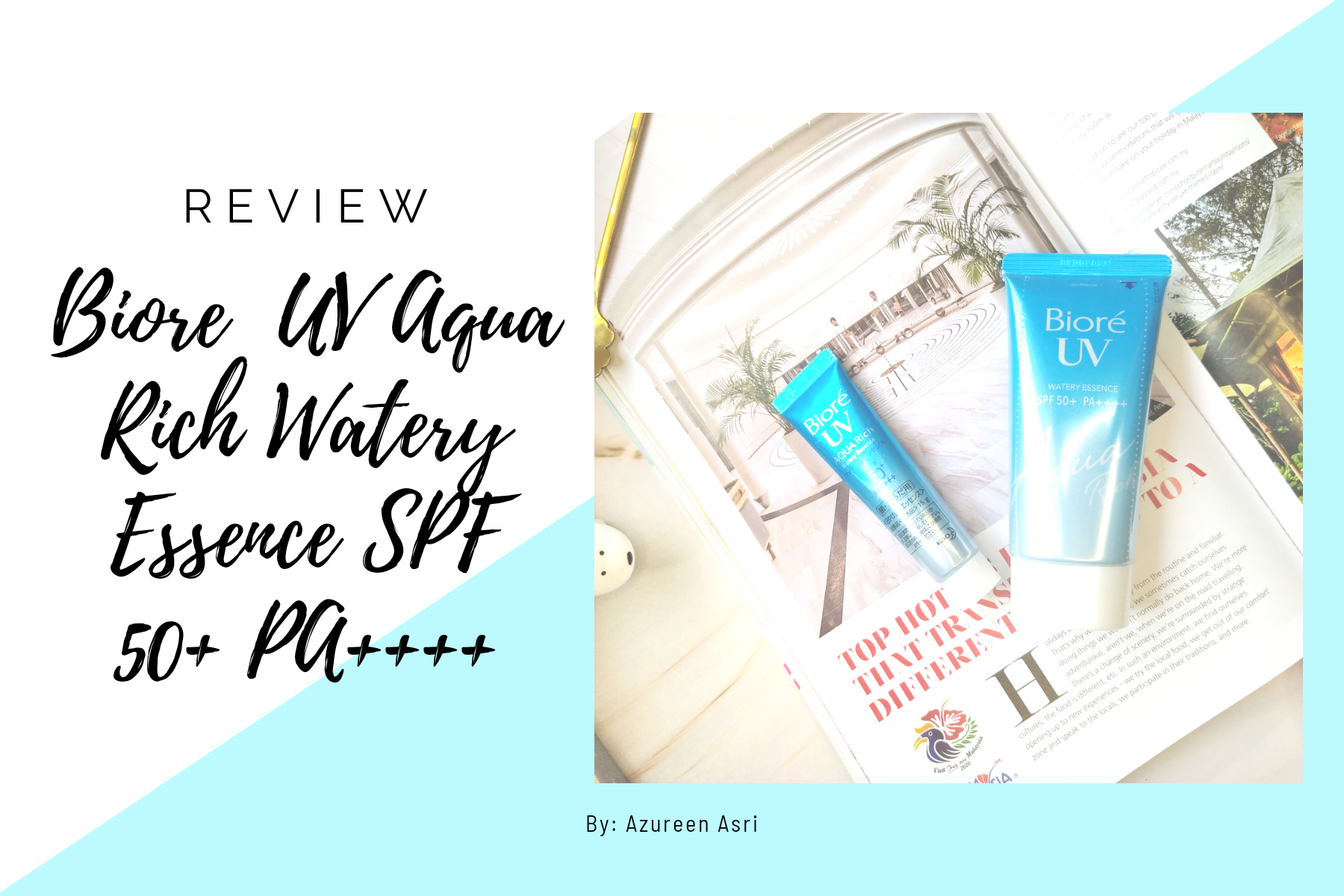REVIEW | Biore UV Aqua Rich Watery Essence SPF 50+ PA++++