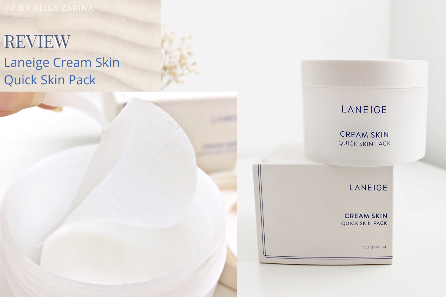 REVIEW | Instant SOS with Laneige Cream Skin Quick Mask Pack