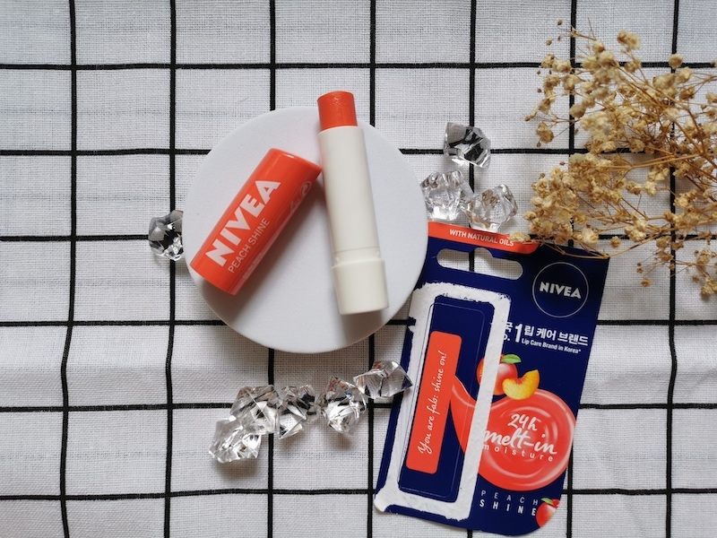 REVIEW | Nivea Lip Care #Peach Shine