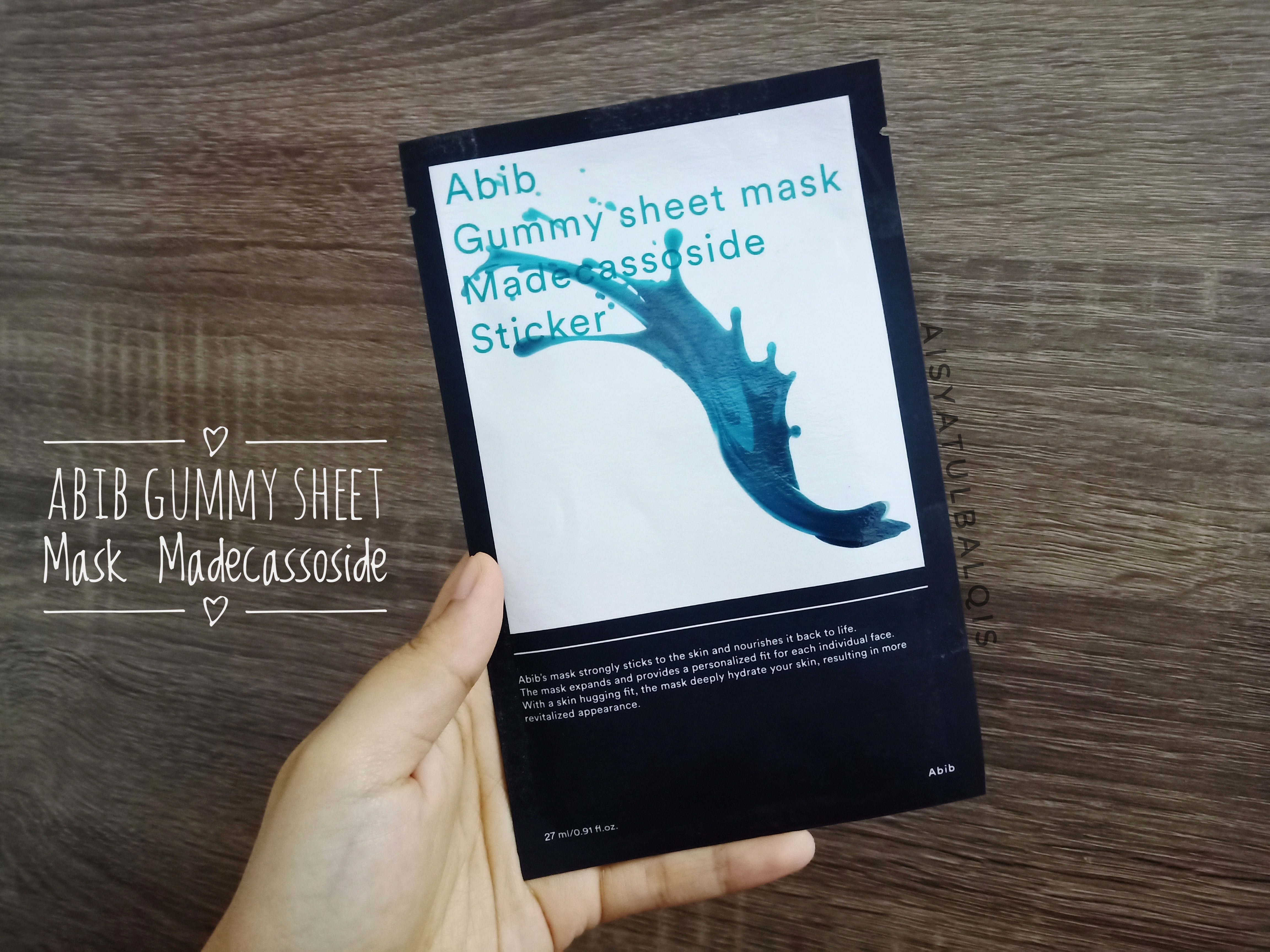 REVIEW | Abib Gummy Sheet Mask #Madecassoside Sticker