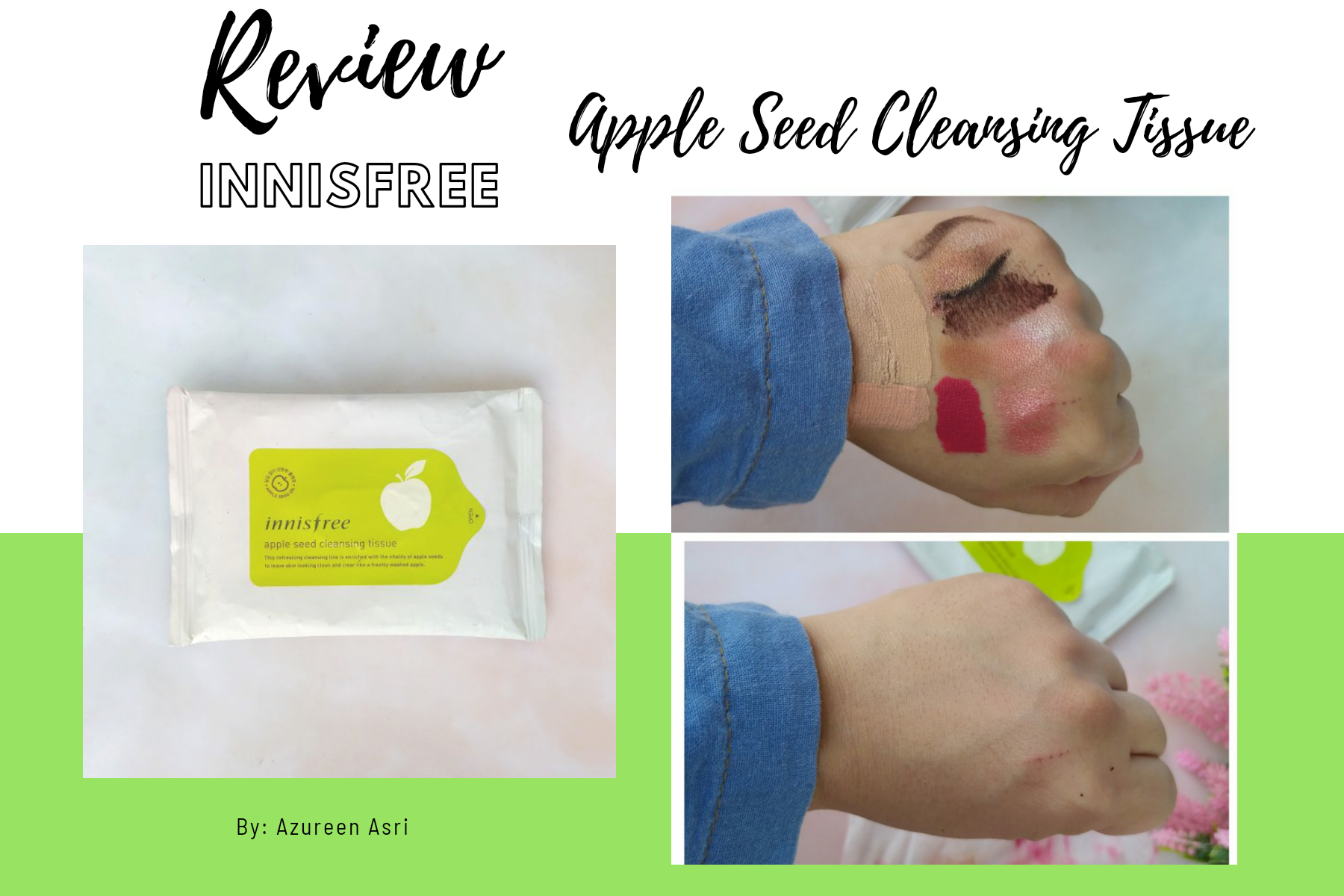 Affordable Travel-Friendly Cleansing Tissue from Innisfree