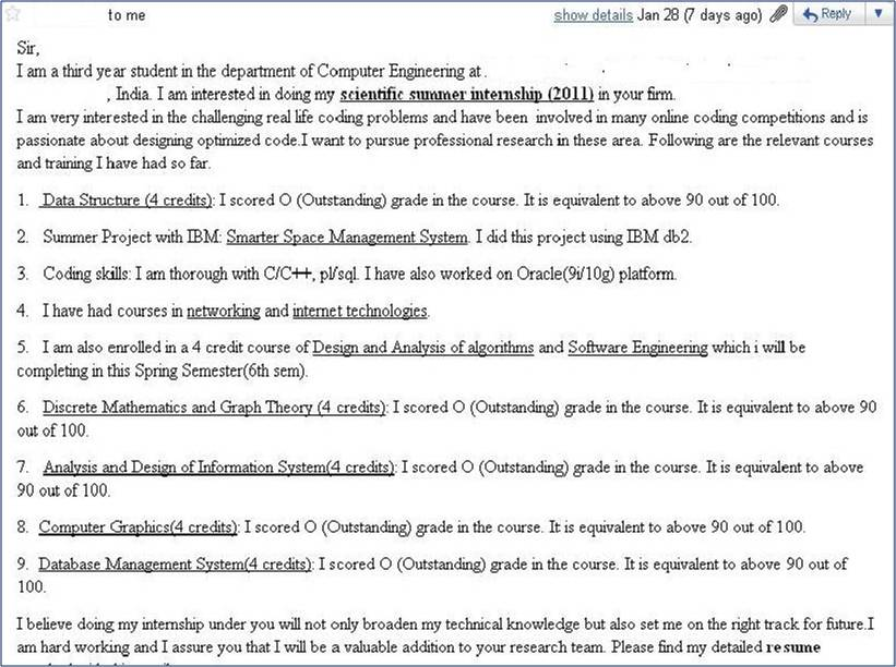 India summer internship cover letter 3 internshala blog for Cover letter for summer internship in computer science