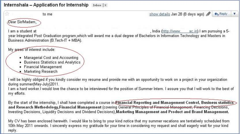 How not to apply for an internship 3 internshala blog cover letter for internship altavistaventures Choice Image