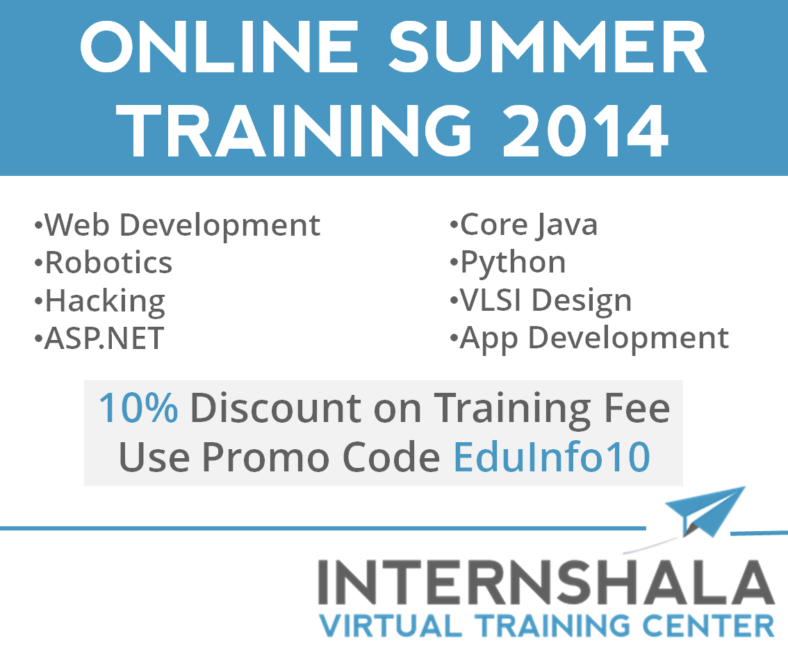 Join Internshala Online Summer Training Program 2014