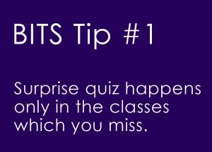 BITS Tips #1