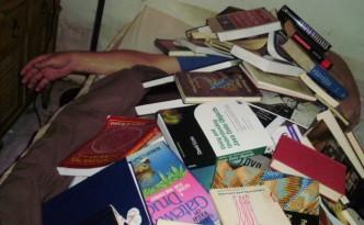 Buried under books