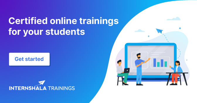 Certified online trainings for your students