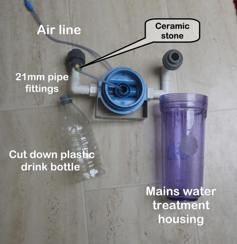 tự chế bộ trộn CO2 từ lọc RO
