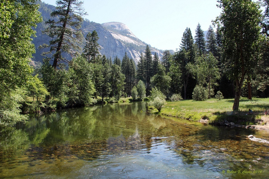 merced river with clear water