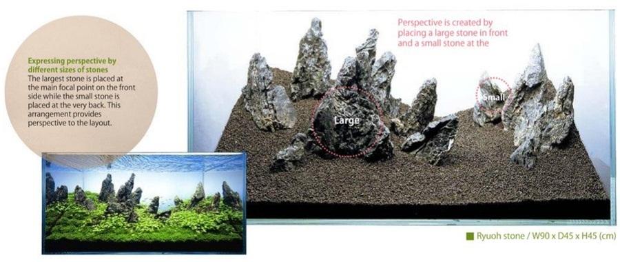 thủy sinh sử dụng đá nhiều kích thước
