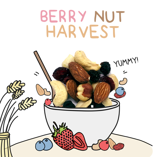 medium image of berry nut harvest