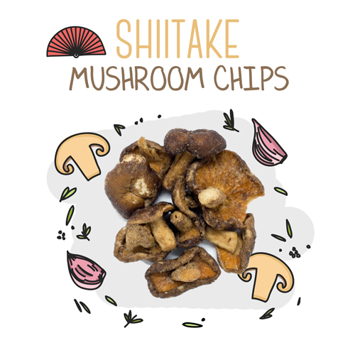 medium image of shiitake mushroom chips-15g