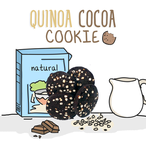 medium image of quinoa cocoa cookie