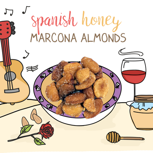 medium image of spanish marcona honey almonds