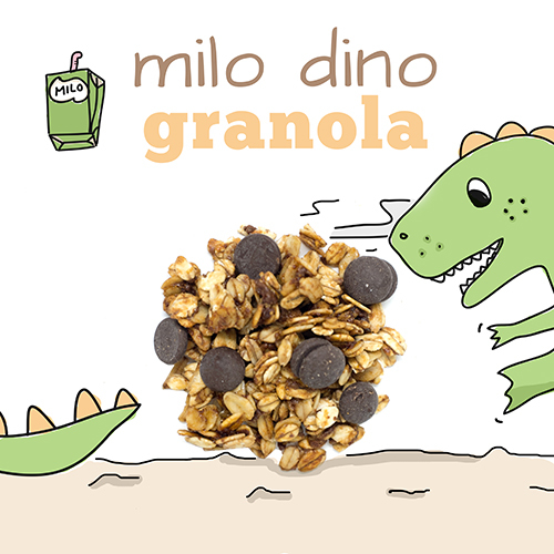medium image of milo dino granola