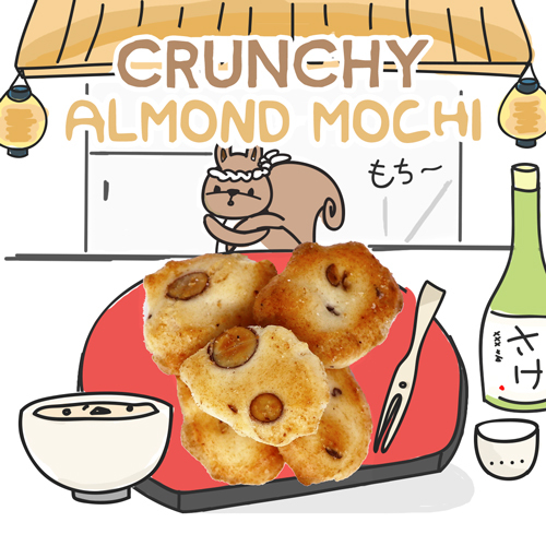 medium image of crunchy almond mochi