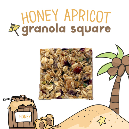image of honey apricot granola square