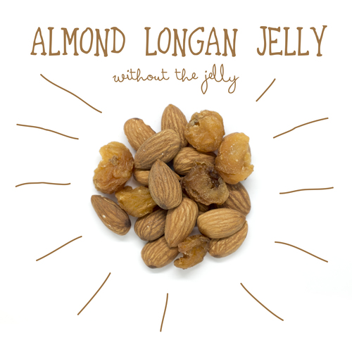 image of almond longan jelly (without the jelly)