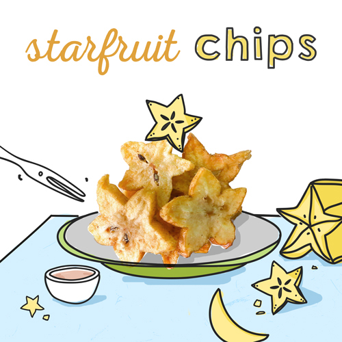 image of starfruit chips