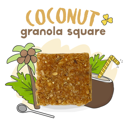 medium image of coconut granola square