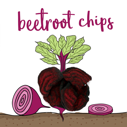 image of beetroot chips