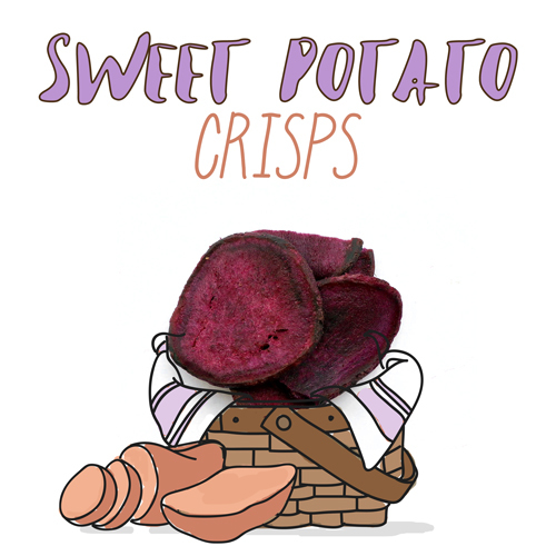 medium image of sweet potato crisps