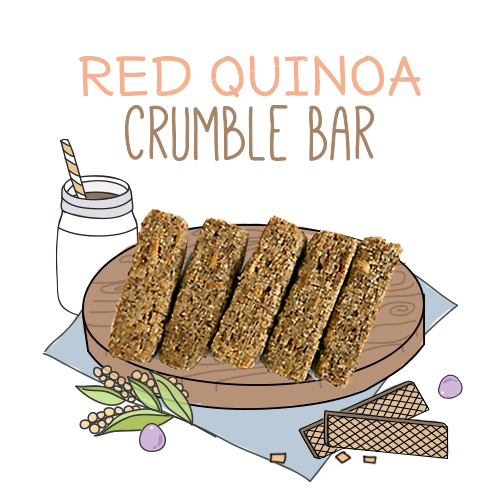 image of red quinoa crumble bar-24g